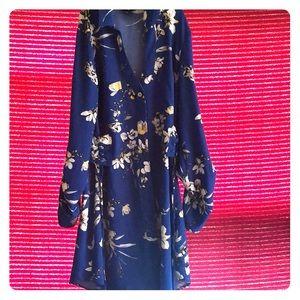 Blue collar guess dress